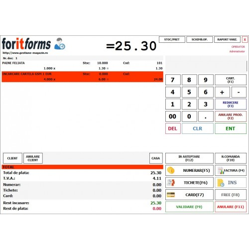 ForIT - Forms Standard | Program gestiune-vanzare