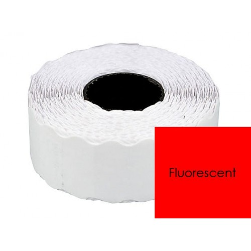 Etichete Pret Rosu fluorescent 26x16mm